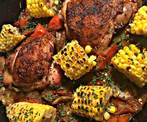 Chicken, entree, and vegetables image