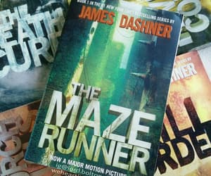 book, movie, and maze runner image