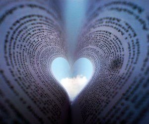 heart, love, and book image