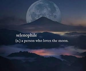 moon, words, and selenophile image