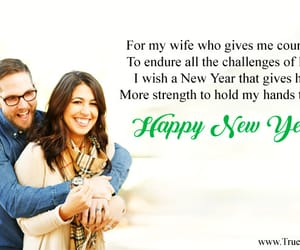 new year love wishes, new year wishes for wife, and new year sms for her image