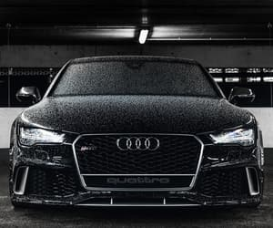 audi, black, and rs7 image