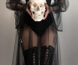 skull, black, and goth image
