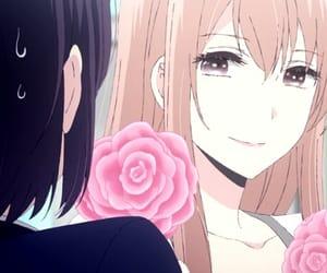 anime, pink roses, and kuzu no honkai image