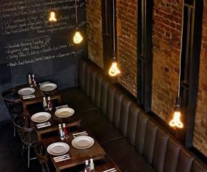 restaurant, brick, and flowers image