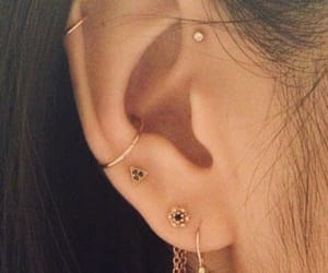 earring, photography, and piercing image