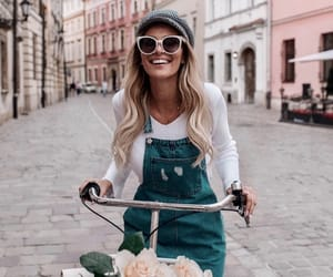 bicycle, hairstyle, and style image