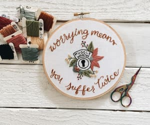 embroidery, harry potter, and needle image