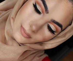 beautiful, hijab, and orange image