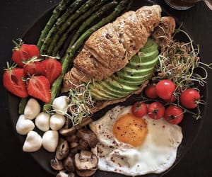 asparagus, avocado, and breakfast image