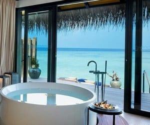 bathroom, luxury, and summer image