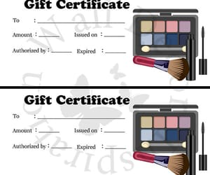 etsy, gift certificate, and makeup artist image