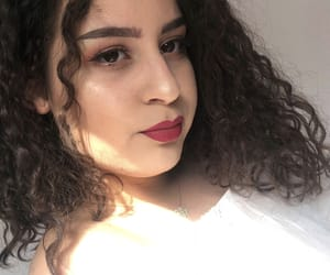 beige, curly hair, and brown image