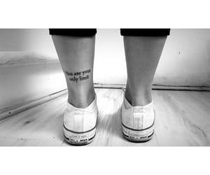 black and white, minimalist, and phrase image