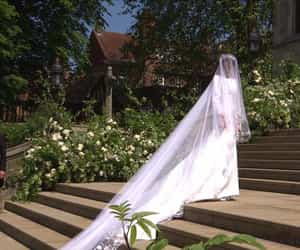 bride, wedding, and meghan image