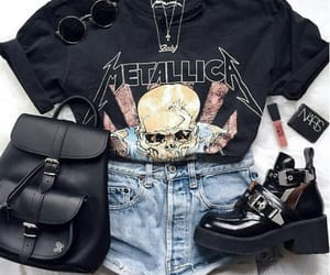 outfit, fashion, and metal image
