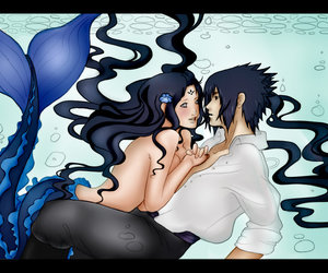 mermaid, naruto, and sasuhina image