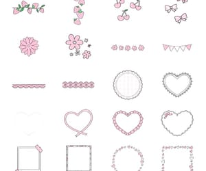 background, flowers, and hearts image