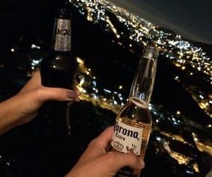 beer, food, and lights image