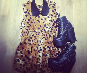 fashion, heels, and leopard image