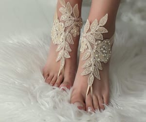beach party, etsy, and lace sandals image