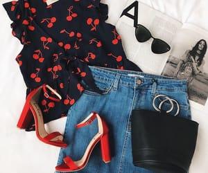 bag, cherries, and cherry image