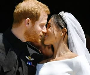 kiss, meghan markle, and prince harry image