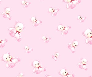 bears, kawaii, and pink image