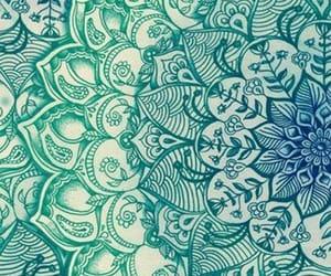 mandala, blue, and wallpaper image