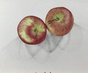 apples, art, and coloured pencil image