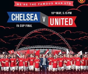 Chelsea, football, and manchester united image