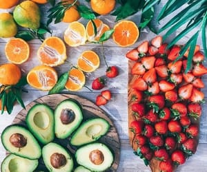 fruit, food, and avocado image