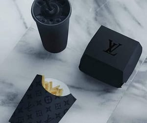 black, food, and Louis Vuitton image