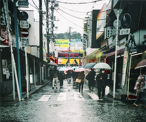 street, japan, and photography image