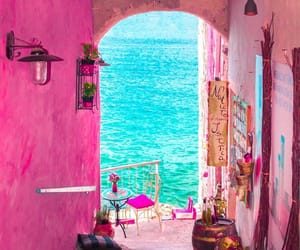 pink, travel, and sea image