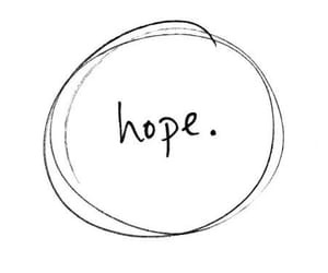 black and white and hope image