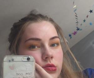 aesthetic, eyeshadow, and selfie image