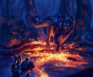 cool, wolf, and wolf art image