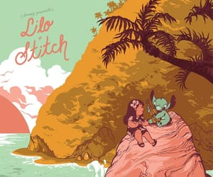 disney, lilo & stitch, and movie poster image