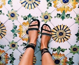 shoes, tumblr, and flowers image
