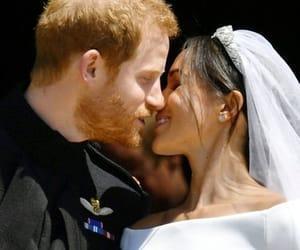 kiss, meghan markle, and prince harry image