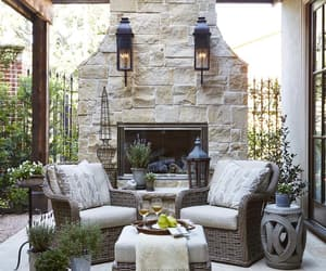 fireplace, patio, and inspiration image