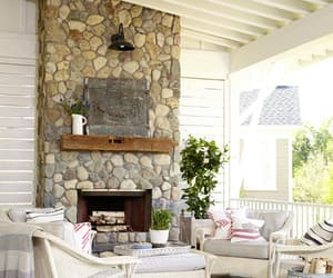 fireplace, patio, and fireplace design ideas image