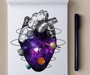 heart, art, and draw image