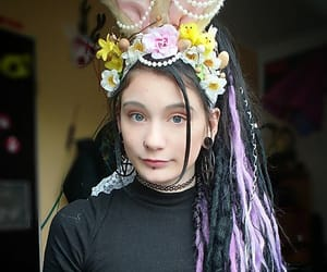 dreadlocks, easter, and purple dreads image