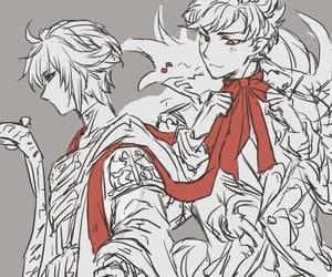 anime, boy, and ribbon image
