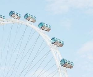 blue, ferris wheel, and aesthetic image