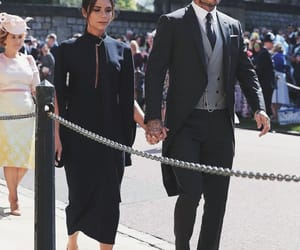 David Beckham, royal wedding, and victoria beckham image