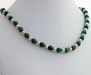 avant garde, green necklace, and beaded necklace image