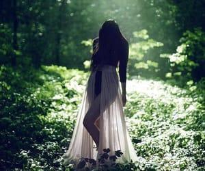 girl, wood, and midsummer image
